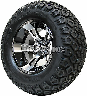 """12"""" RHOX RX210 Wheel with Tire Combo and EZGO Golf Cart Lift Kit"""