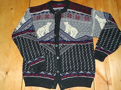 Analitico 1990's Uomo Skjaeveland Maglione Sz Large Made In Norvegia Usato Una Grande Varietà Di Merci