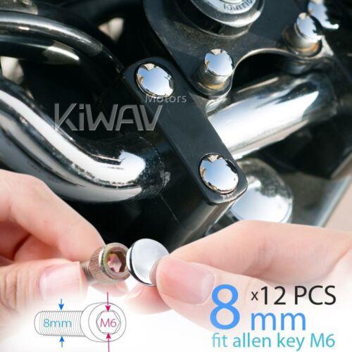 12pcs USA STOCK M6 allen key chrome bolt screw nut end cover cap for M8 bolt