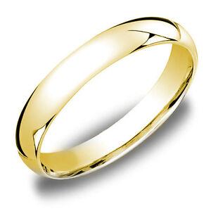 3mm 14k Yellow Gold Sterling Silver Men S Women S Wedding