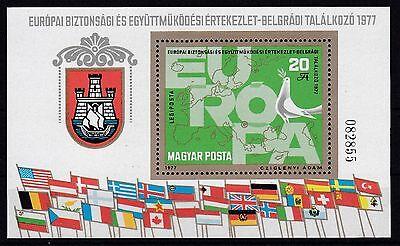 Ungarn 1977 Postfrisch Minr. Block 126a Europa Ksze