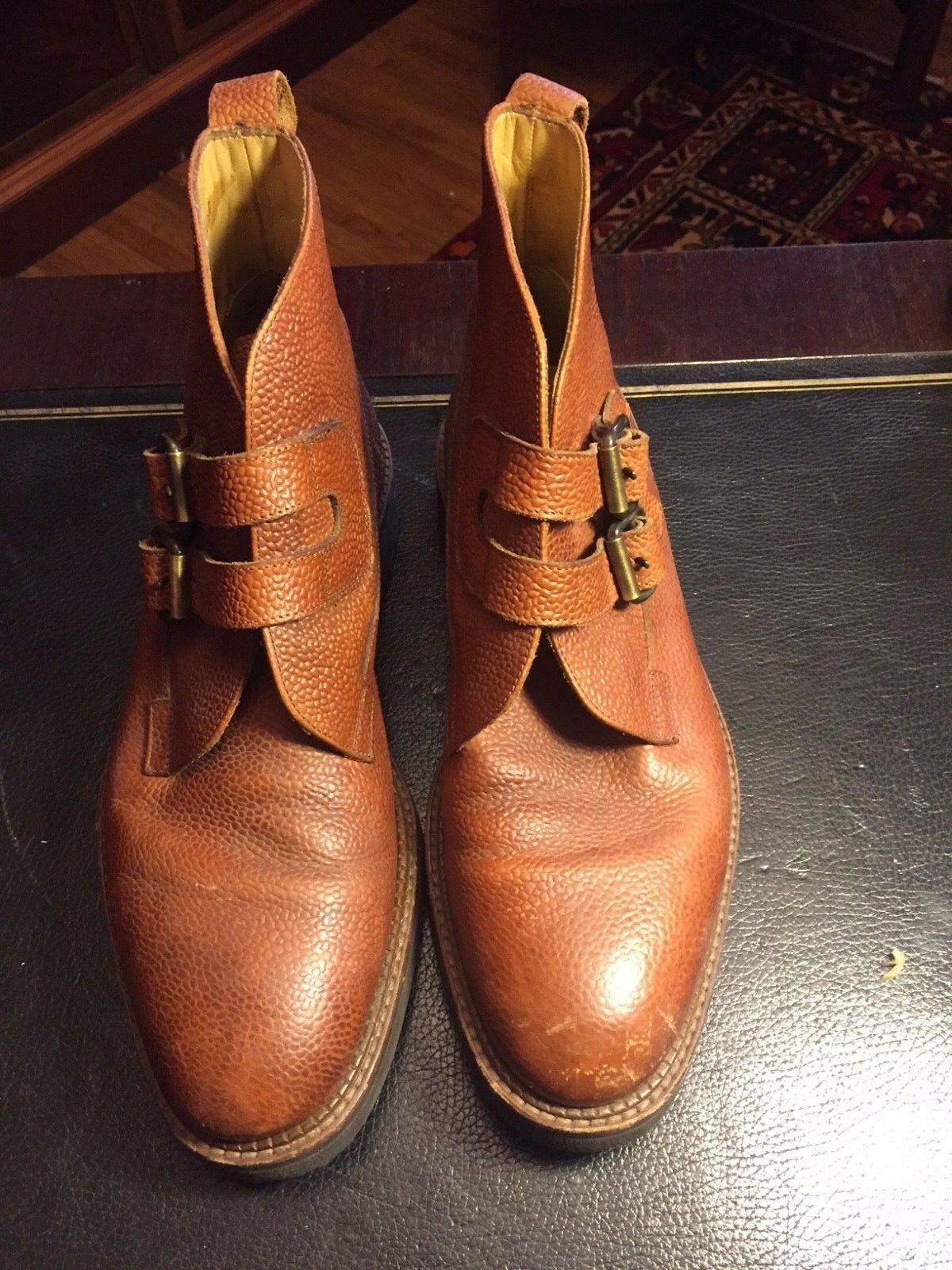 Polo Ralph Lauren Braun Leder Chukka Ankle Boot D  Uomo Größe 8.5 D Boot cd7148