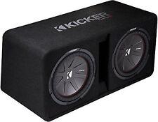 KICKER Dual-Bassreflexbox 43DCompR12 (DCWR122-43) Subwoofer