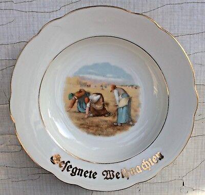 Weihnachtsteller Bunter Teller Weihnachten Nikolaus 20er antik vintage shabby