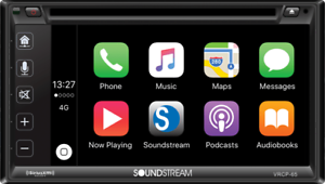 "SOUNDSTREAM VRCP65 6.2"" CD DVD BLUETOOTH iPHONE APPLE CAR PLAY SIRIUSXM STEREO"