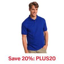 Hanes Golf Tee Men's Polo Shirt Cotton-Blend EcoSmart Jersey, 20% off: PLUS20