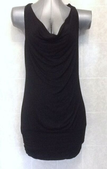 Temt Strappy Mini Cocktail/Formal Evening Party Dress Cowl Neck Size Small 8