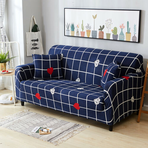 Stretch Sofa 1 2 3 4 Seater L Shape Protector Couch Slipcover Loveseat Cover