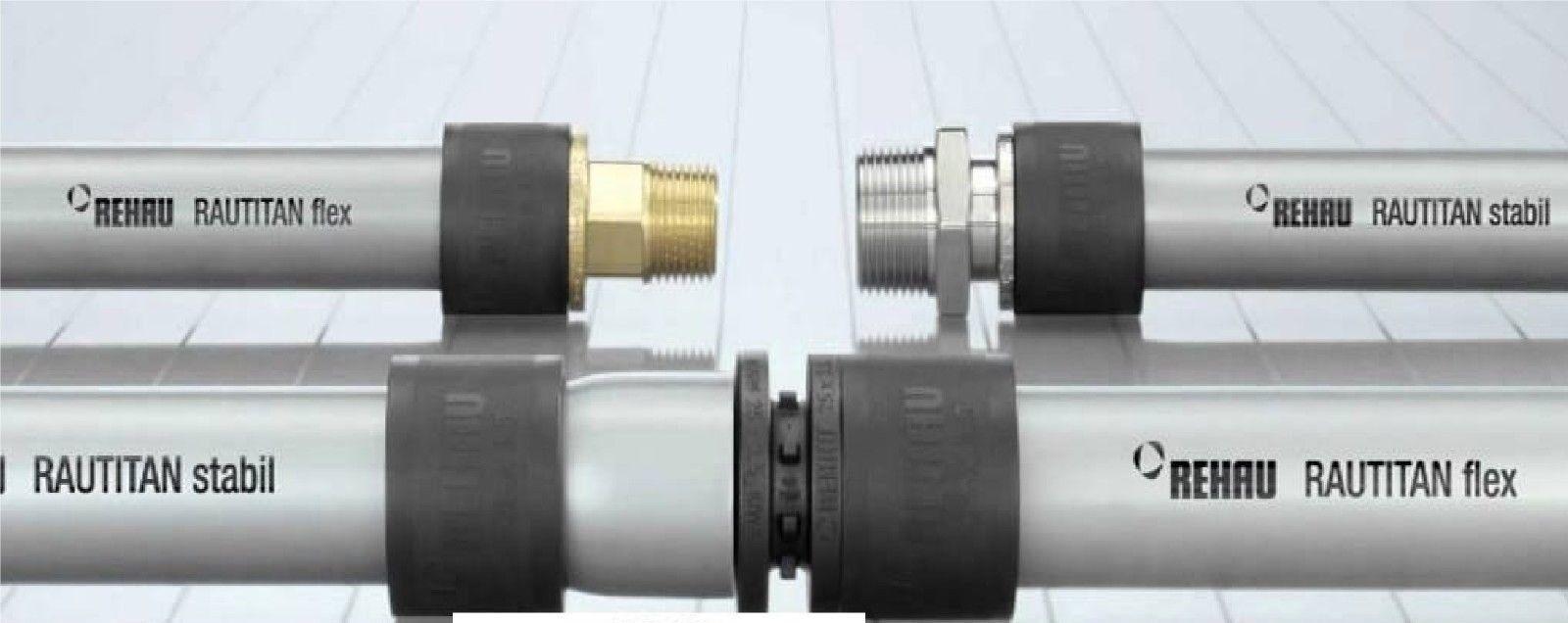 Rehau Rautitan Stabil Flex Verbund Rohr 16mm 20mm 20mm 20mm 25mm 32mm für Wasser und Wärme 50418e