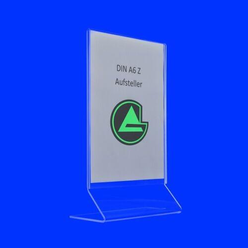 Display Z Aufsteller A3 A4 A5 A6 A7 Original von Grünke® Acryl