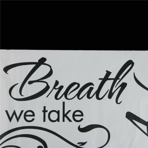 1pc Breath Away Saying Wall Stickers For Living Room Bedroom DecorationODUS
