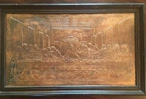 Image Is Loading The Last Supper Copper Relief Embossed Wall Hanging
