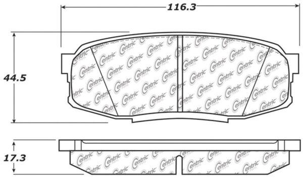 Metallic StopTech 102.13040 Brake Pad