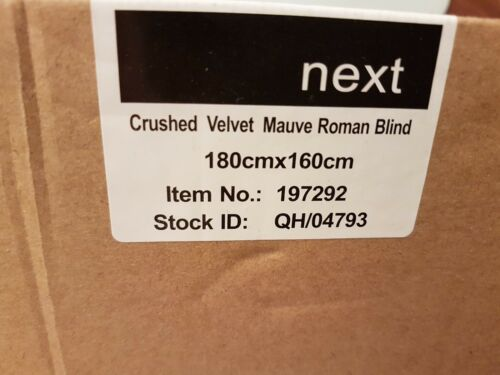 Next Velvet Mauve Roman Blinds