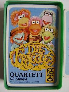 DIE-FRAGGLES-SCHMID-FX-QUARTETT-Nr-54008-4-Vollstaendig-in-Grossbox-von-1984