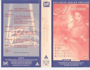 MADONNA-FOX-VIDEO-EXCLUSIVE-DEALER-PREVIEW-VHS-VIDEO-PAL-A-RARE-FIND