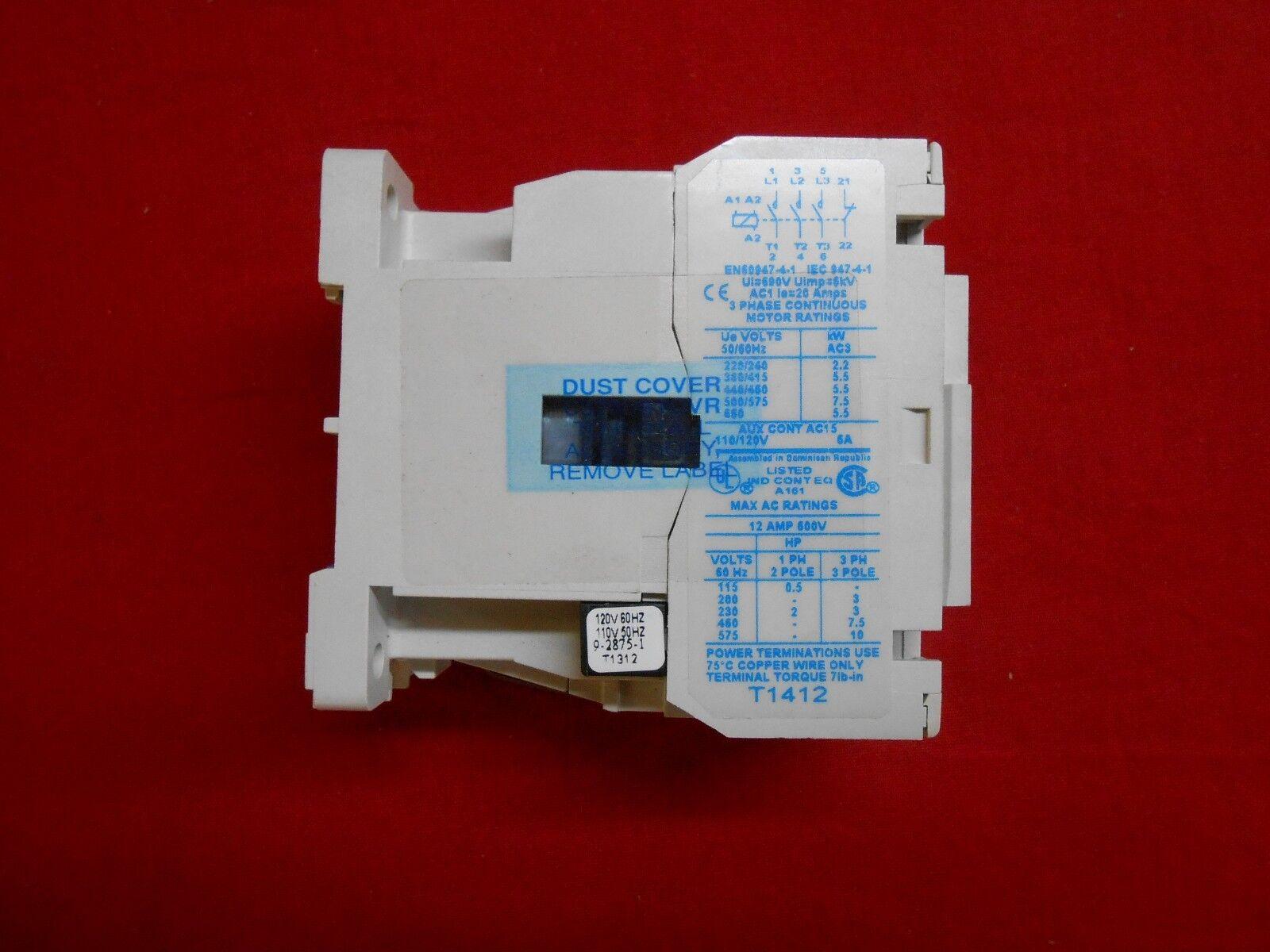 EATON CE15CNC3 AB77 finger shield CONTACTOR SIZE C 3-POLE 12AMP 120V COIL NEW