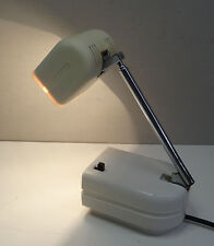 Teleskop Designer Lampe 70's ausziehbare weisse Tischlampe Lampette 70er