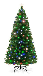 Buy Christmas Tree Best Choice Products 7ft Pre Lit Fiber Optic