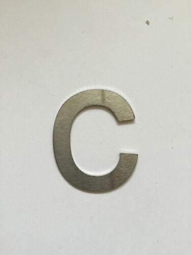 Hausnummer Postschild Nummernschild Türnummer Buchstabe c Größe XL Edelstahl V2A