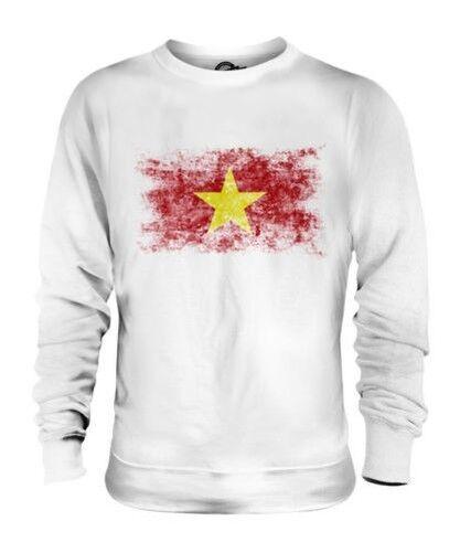 Vietnam Drapeau Délavé Unisexe Pull Viet Nam Chemise Vietnamien T-Shirt Cadeau