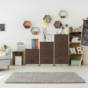 Bedroom-Storage-Dresser-Tower-Shelf-Organizer-Bins-Cabinet-w-3-Fabric-Drawers