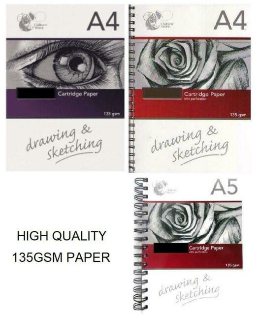 A4 DRAWING PAD-50 SHEET FINEST QUALITY CARTRIDGE PAPER 120 GSM-see picture