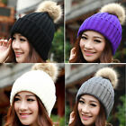 Women Novelty Winter Warm Braided Crochet Knitting Hat Beret Ski Beanie Ball Cap