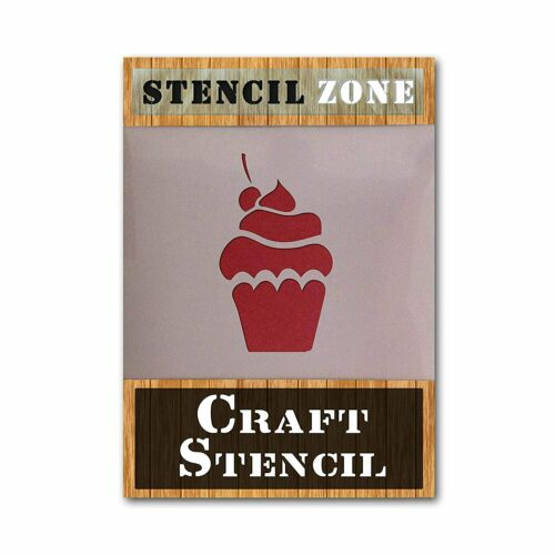Cherry Cup Cake AIRRUSH Painting Wall Art Stencil