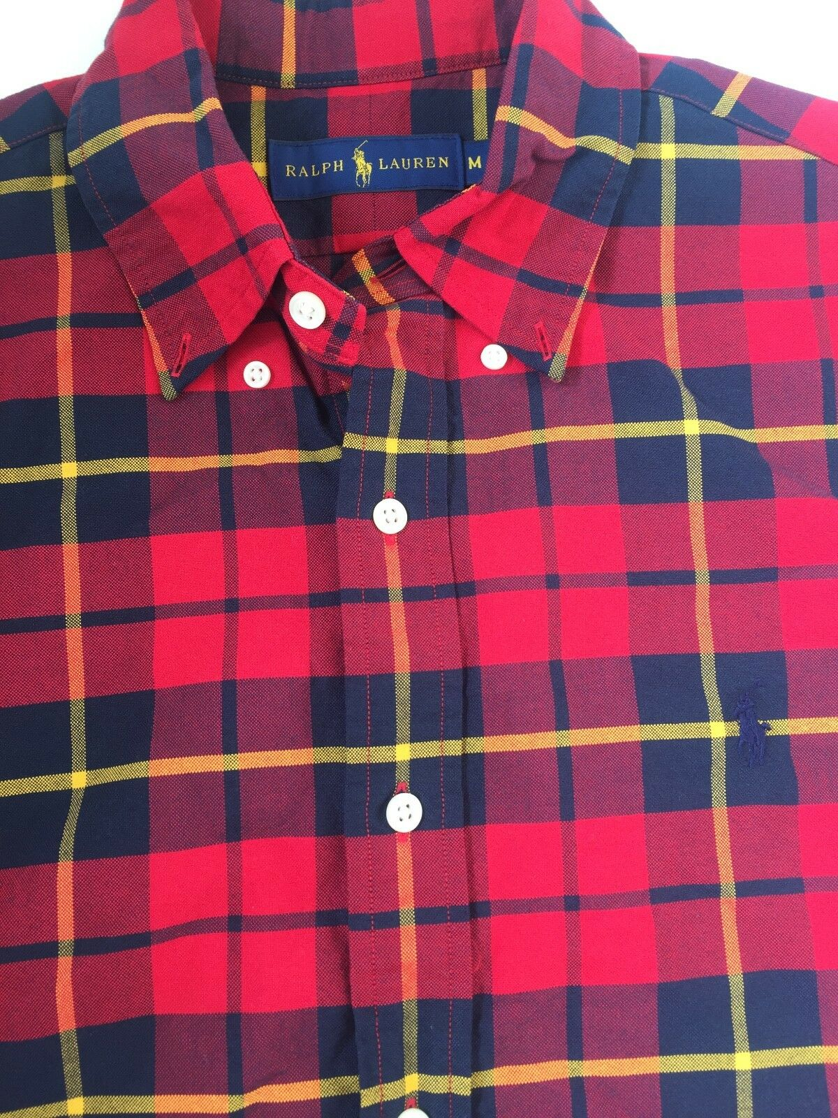 Men's Polo Ralph Lauren Tartan Plaid Oxford (Medium)