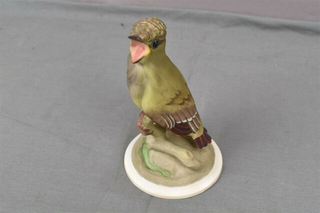 Boehm Porcelain Baby Crested Flycatcher 458 Fledgling Bird Figurine Statue USA  eBay