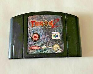 Turok 2 Seeds of Evil-Nintendo 64 N64 Juego-solo Carro-probado/trabajo PAL Reino Unido
