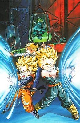 Poster 42x24 cm Dragon Ball Z Goku Piccolo Saiyan Manga Anime Cartel 01