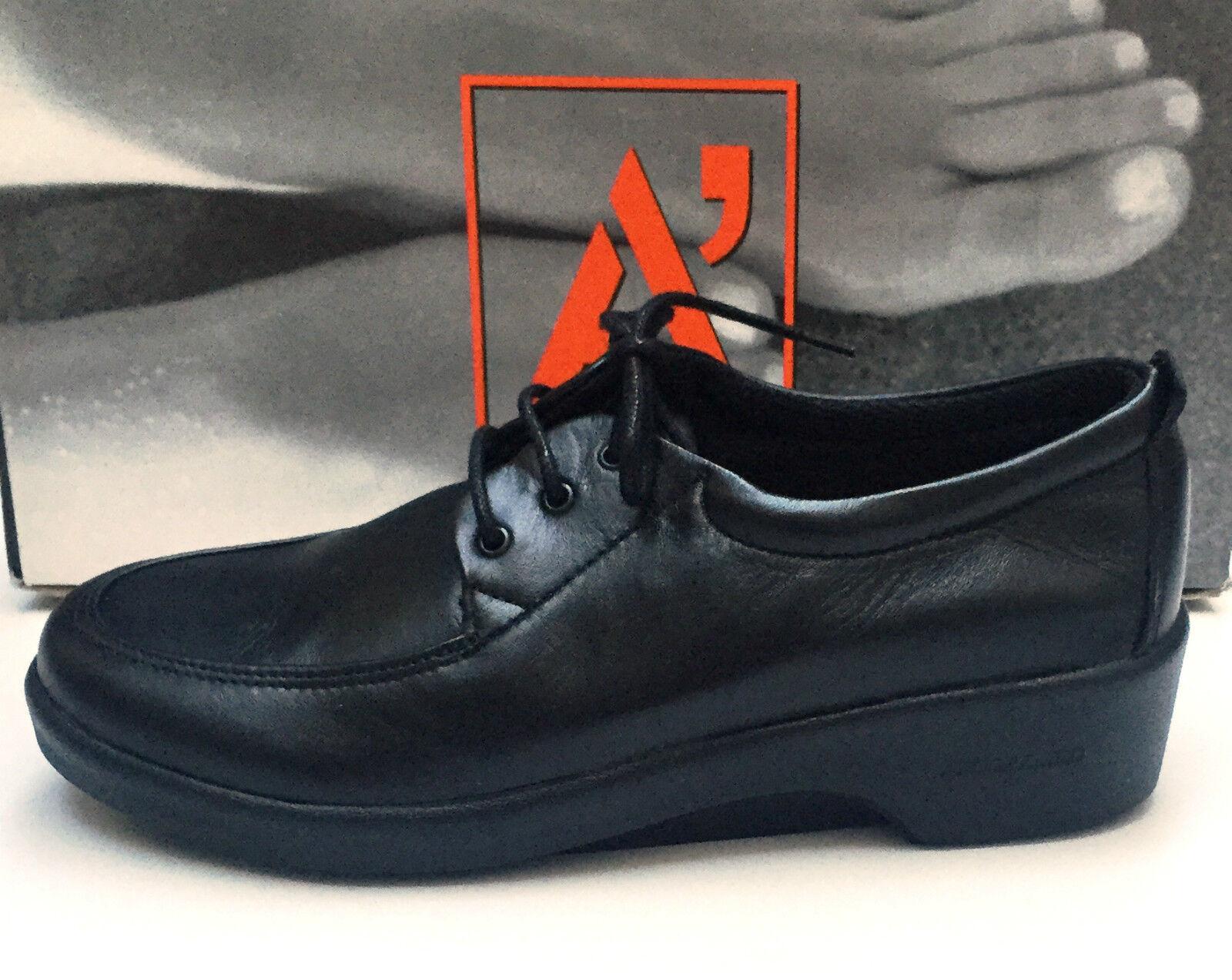 ARCOPEDICO MATRIX scarpe da donna con lacci in morbida pelle Nero, molto comode
