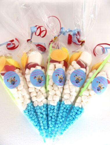 Minions 20 X Pré Rempli Sweet Cônes personnalisée Minions Bonbons X 20