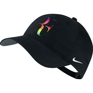 9589531f61a New Nike RF Roger Federer Iridescent Hat Cap Black Tennis Dri Fit ...