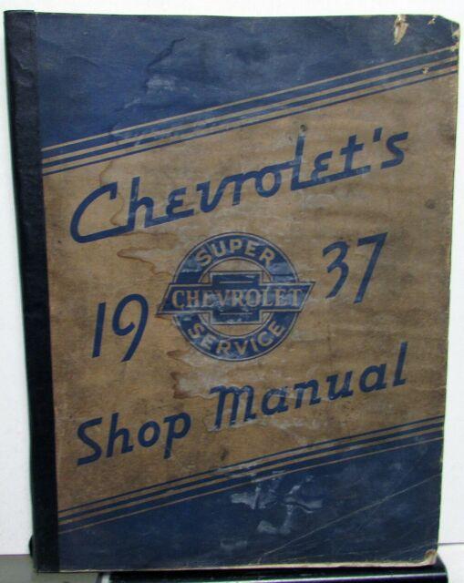 1937 Chevrolet Car  U0026 Truck Service Shop Repair Manual