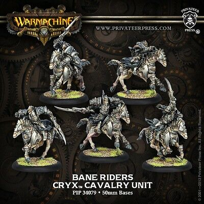 Warmachine Cryx Bane Riders Unit PIP 34079 (5 Models) - Used - Out of Box