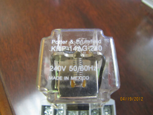 Potter /& Brumfield Relay KRP-14AG-240 KRP14AG240 240V 10A 10Amp A W// Base