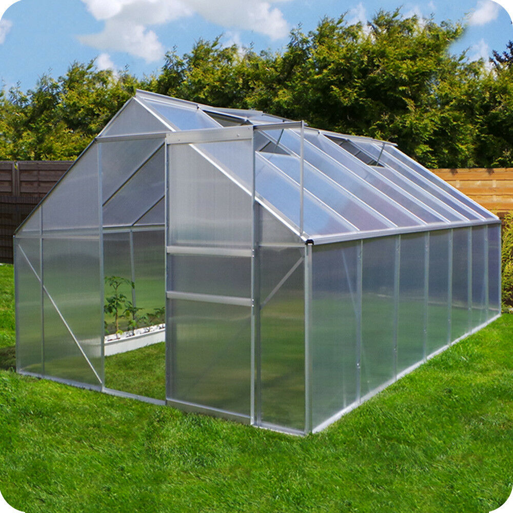 il più economico Serra con fondazione fondazione fondazione piante da giardino casa in alluminio serra pomodori-NUOVO  garantito