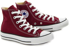 6fcbb477003 Converse All Star Chuck Taylor Burgundy Hi Top New In Box 100 ...