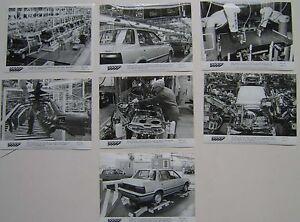 Rover 200 producton at Longbridge Factory x 7 Original b&w Press Photos 1984