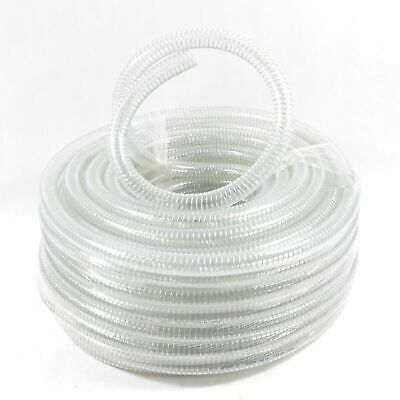 "1 1/4"" 32mm Saugschlauch Spiralschlauch Ansaugschlauch Förderschlauch Klar"