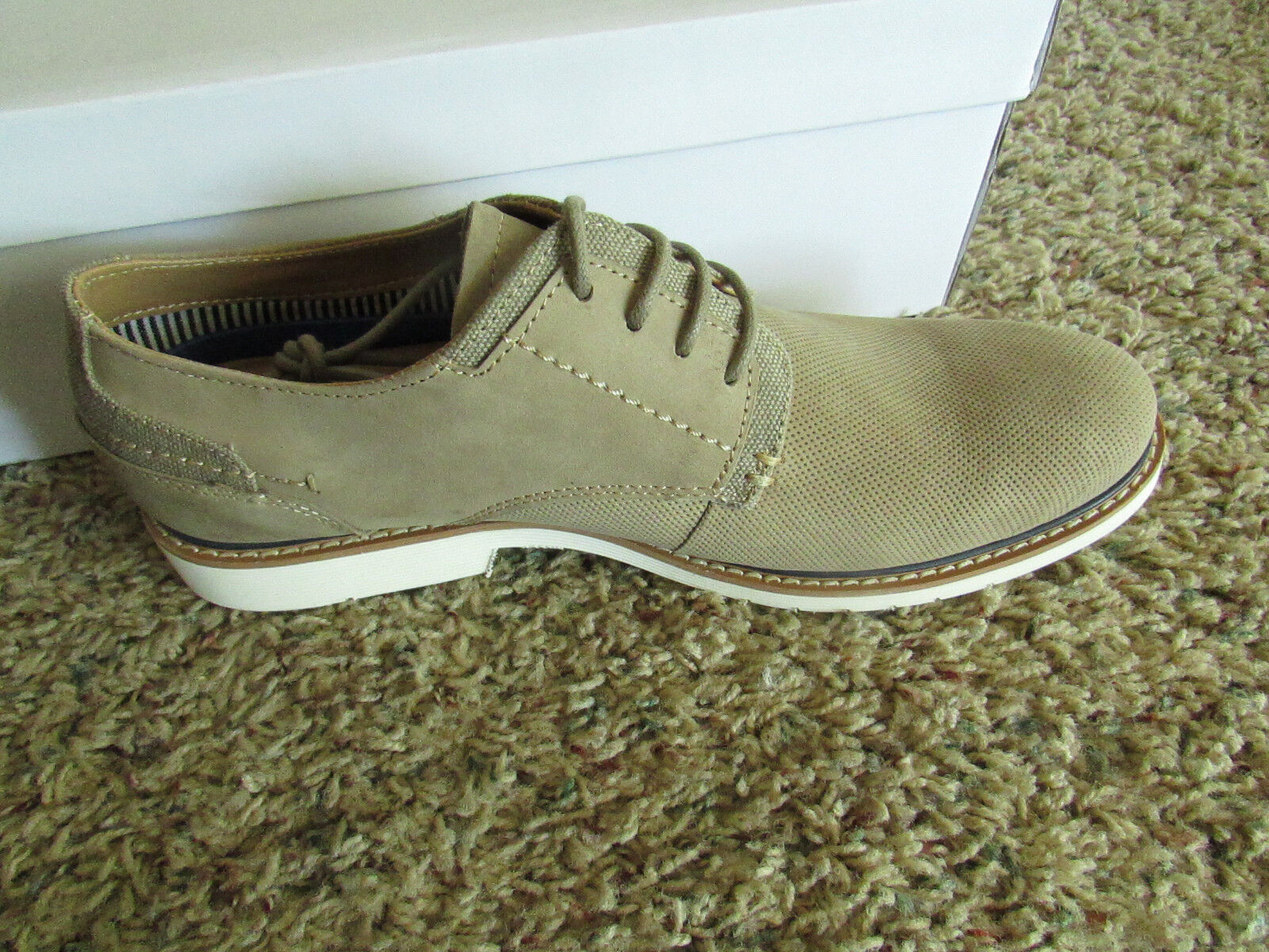 NEW STEVE MADDEN STOKER TAUPE OXFORD SHOES Uomo 10 OXFORDS