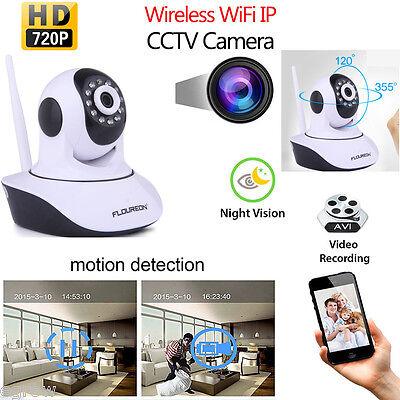 720P IP Cámara WIFI Visión Nocturna Detección Movimiento Seguridad de Vigilancia