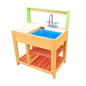 Spielküche Outdoor Matschküche Kinderküche Holz Gartenküche verschiedene Modelle