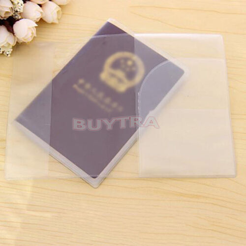 Enduring Stylish Clear Transparent Passport Cover Holder ID Card Protector YL
