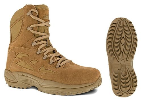 """Reebok RB8977 Men/'s Coyote 8/"""" Rapid Response Military AR670-1 Compliant Boots"""