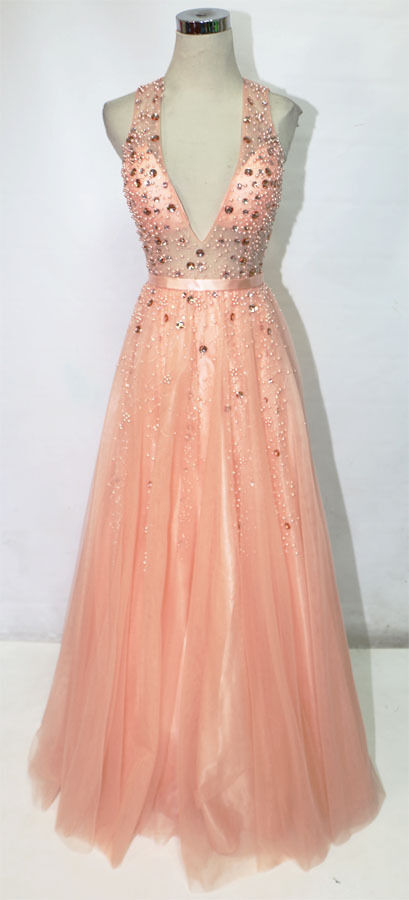 WINDSOR Pink Ball Formal Evening Prom Gown S -  400 NWT