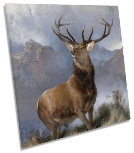 Monarch of the Glen Edwin Henry Landseer CANVAS WALL ART Square Print